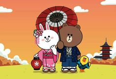 Cony, Brown et Sally Cony Brown, Brown Bear, Line Cony, Friends Wallpaper, Emoji Faces, Line Friends, Cute Cards, Cute Wallpapers, Taiwan