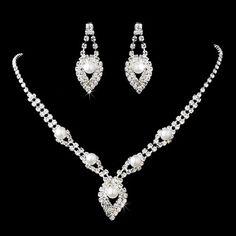 Bridal Wedding Jewelry Set Elegant Rhinestone Pearl Accessoriesforever,http://www.amazon.com/dp/B007MRQTM2/ref=cm_sw_r_pi_dp_963mtb0HHXGJGPF3