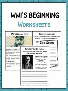 World War 1 started when Archduke Franz Ferdinand of Austria was assassinated on June This was the immediate cause but there were a. 7th Grade Social Studies, Social Studies Worksheets, Place Value Worksheets, Worksheets For Kids, Ww2 Timeline, Ww2 Facts, Triple Entente, Classroom Board, Facts For Kids