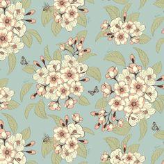 Floral blossom garden print - Suzanne Washington