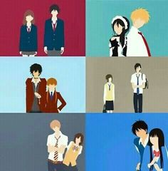 Shoujo animes | Ao haru ride, kaicho wa maid sama, tonari no kaibutsu kun, say I love you, the wolf girl and the black prince, and kimi todoki