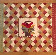 """Olde Green Cupboard Designs - """"Peace""""  Wool applique with jumbo ric rac and pieced quilt.  Project for our June 1, 2014 cruise to the Easter Caribbean."""