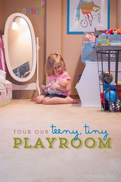 Teeny, tiny playroom reveal // playroom ideas for small spaces | TheMombot.com