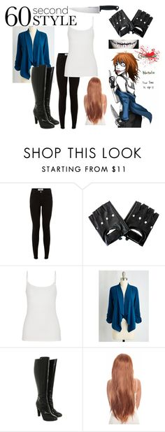 """""""60 Second Style: ClockWork CreepyPasta Costume"""" by eyelessjacky ❤ liked on Polyvore featuring maurices, Fendi and Kershaw"""