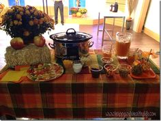Harvest Party Tips and Tricks! Live television segment on how to throw a harvest party for all ages, including a chili cook-off to get guests involved and a caramel apple bar with toppings like candy corn and mini chocolate chips! www.happywifeealthylife.com
