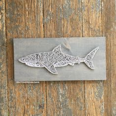 MADE TO ORDER Shark String Art Sign by CreationsFromBlondie on Etsy https://www.etsy.com/listing/278538910/made-to-order-shark-string-art-sign