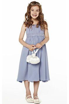 Fantastic Spaghetti Straps Buttons Princess Natural Tea-length Flower Girl  Dresses
