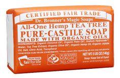 Dr. Bronners - Magic Pure-Castile Bar Soap Organic Tea Tree - 5 oz.:Amazon:Health & Personal Care