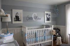 This gray nursery is stunning #nursery