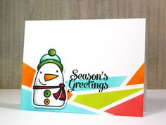 Card by SPARKS DT Pamela Ho PS stamp sets: Freezy Fellas and Fresh Snow