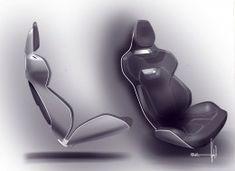 Volvo Concept Coupe Interior Seat Design Sketch