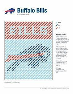 Buffalo bills made pattern Plastic Canvas Tissue Boxes, Plastic Canvas Crafts, Plastic Canvas Patterns, Football Canvas, Football Team, Canvas Door Hanger, Canvas Designs, Canvas Ideas, Yarn Storage