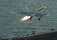 NORTH ARABIAN SEA (May 8, 2013) An F/A-18C Hornet assigned to the Rampagers of Strike Fighter Squadron (VFA) 83 launches from the flight deck of the aircraft carrier USS Dwight D. Eisenhower (CVN 69)(U.S. Navy photo by Mass Communication Specialist Seaman Andrew Schneider/Released)