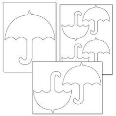 Printable Umbrella Template Printable Treats Umbrella Craft