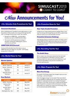 Announcements made at AmbitCast 2013. Ambit Energy Consultants can earn Double/Triple Bonus. Find out how to make a full-time income working part-time at http://www.joinambitiousenergy.com