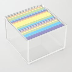 Complex Stripes - Pastel Rainbow Acrylic Box by laec Good Advice For Life, Storage Places, Acrylic Box, Toy Chest, Pastel, Stripes, Rainbow, Store, Home Decor