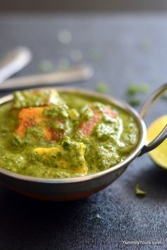Substitute Paneer with tofu, replace cream with coconut milk and enjoy this Popular Indian Saag Paneer - Vegan style!