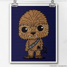 Chewbacca Limited Edition Print by StudioLongoria on Etsy, $10.00