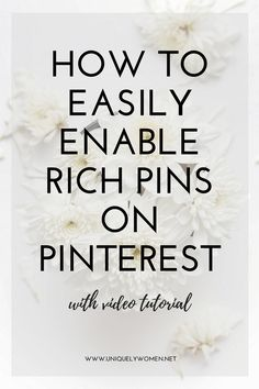 How To Easily Enable Rich Pins On Pinterest