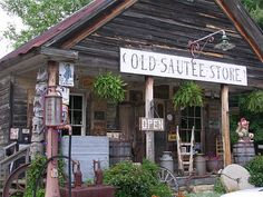 An authentic old country store museum sealed in time just as it would have been in the 1800's in Sautee, Georgia.