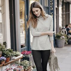Cashmere Roll-Neck Long Jumper | The White Company. Shopping from the US? -> http://us.thewhitecompany.com/Clothing/Sweaters-%26-Cardigans/Cashmere-Roll-Neck-Long-Sweater/p/ROCCC?swatch=Pale+Gray+Marl