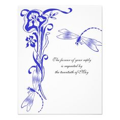 Discount DealsIris & Dragonfly Royal Blue Wedding Reply Cards Personalized Invitationonline after you search a lot for where to buy