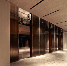 Modern Design and Living Hotel Hallway, Hotel Corridor, Lift Design, Door Design, Accor Hotel, Ab Concept, Elevator Design, Elevator Lobby, Public Hotel