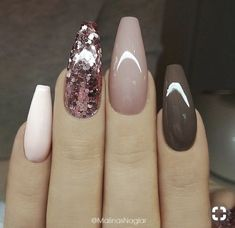 Ballerina Nail Art Tips Transparent/Natural False Coffin Nails Art Tips Flat Shape Full Cover Manicure Fake Nail Tips The post Ballerina Nail Art Tips Transparent/Natural False Coffin Nails Art Ti appeared first on Nageldesign. Trendy Nails, Cute Nails, Acrylic Nail Designs, Nail Art Designs, Brown Nail Designs, Acrylic Nails With Design, Sparkle Nail Designs, Neutral Nail Designs, Pretty Nail Designs