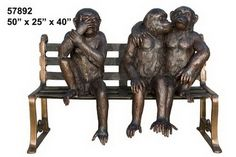 Caption this photo. The most creative caption wins. See details here: http://www.ivoryandart.com/product/bronze-sculpture-monkeys-in-love-om-a-bench/ #art #sculpture #sculptures #antique #antiques #artist #ivory #netsuke #mammoth #arts #mould #craft #decor #handmade #sculpted #silver #bronze #free #porcelain #tusk #mammothivory #gems #monkeys