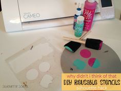 DIY Reusable Stencils with Silhouette (The I-Bet-You-Didn't-Think-Of-That Technique) ~ Silhouette School