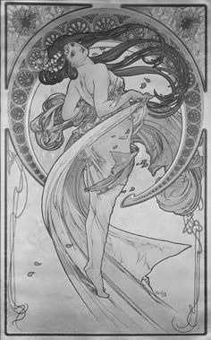 mucha coloring pages | Lines, Lines, Everywhere There's Lines