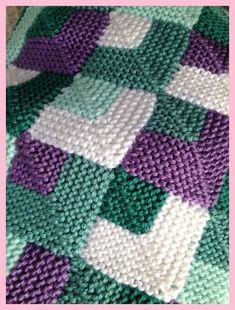 Der Neuen : Babydeken van By Lala op Etsy, - Knitting patterns Knitted Squares Pattern, Knitting Squares, Baby Knitting Patterns, Knitting Stitches, Knitting Designs, Hand Knitting, Crochet Patterns, Knitting Blocking, Diy Crafts Knitting