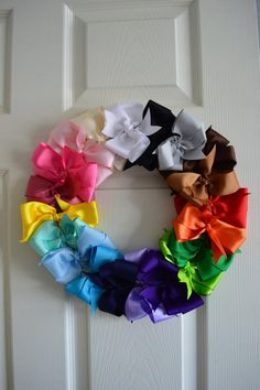 Bow Wreath with 20 colors