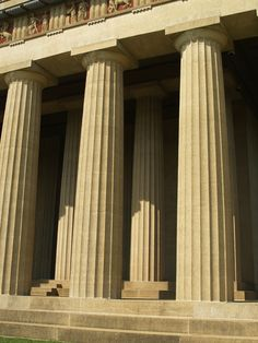 The Parthenon in Nashville's Centennial Park is a full-scale copy of the original Greek Parthenon; it was initially built in 1897 as part of the Tennessee Centennial Exposition of plaster, wood, and brick. In 1920 the Parthenon was rebuilt on the same foundations, in concrete, in a project that was completed in 1925; the interior was completed in 1931.