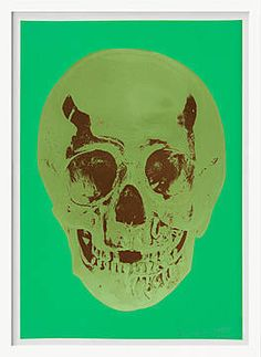 Damien Hirst, Till Death Do Us Part – Viridian – Leaf Green Chocolate Skull, 2012 /  © www.lumas.com/ #Lumas