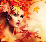 Autumn Woman Portrait Beauty Fashion Model Girl