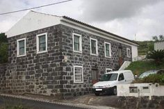 House in Faial Island, Azores, Portugal. North Atlantic Ocean. (Seems that most houses there are Rock Houses)!