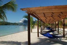 Roatan Honduras. I laid in that hammock.  ( A couple of people have repinned this as is. . . I really did lay in that hammock. Jb)