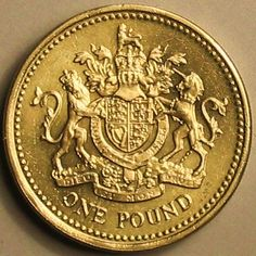one pound coin, coat of arms - My CMS One Pound Coin, Best Of British, Kingdom Of Great Britain, England And Scotland, World Coins, British Isles, London Calling, Coat Of Arms, London England