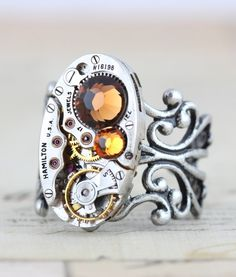 Steampunk Ring  Steam Punk Jewelry   by inspiredbyelizabeth, $42.00
