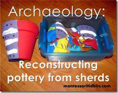 archaeology pottery sherds kids