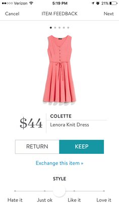 This dress is cuuuute! Love the buttons, the V-neck, the flowy skirt, the tie around the waist ... and it is so pink!