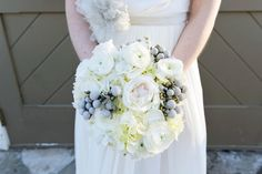 Winter White Bouquet by Hoopla Event Design & Styling