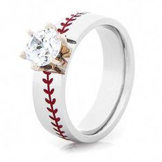 Hit a grand slam with the Cobalt Diamond Baseball Ring, a stylish slugger that will make you in her heart. Baseball stitching and diamond or CZ stones! Baseball Ring, Baseball Jewelry, Baseball Bats, Baseball Shoes, Baseball Stuff, Baseball Jerseys, Baseball Girlfriend, Softball Stuff, Baseball Field