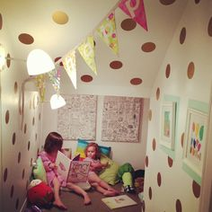 Vinyl Wall Sticker Decal Art  Polka Dots by urbanwalls on Etsy, $29.00    Love the gold ones