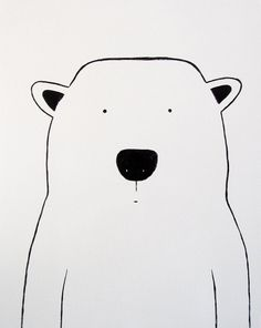 Modern Kids and Nursery Polar Bear Art von adrianeduckworth auf Etsy