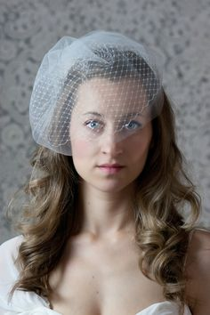 Layered Birdcage Veil. $40.00, via Etsy.