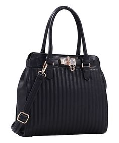 Take a look at this MKF Collection Black Quilted Satchel today!