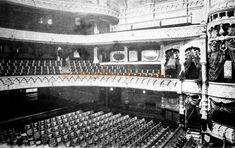 An early Postcard showing the Auditorium of the Leicester Palace circa 1901 - Courtesy David Garratt