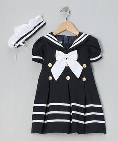 Loving this Navy Mariner Dress & Hat - Toddler & Girls on #zulily! #zulilyfinds